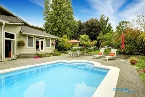 Home Pool with a Pool Ozonator